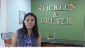 Sticklen & Dreyer Personal Injury Law Firm, front desk woman.