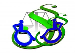 Wheelchair accessibility icon emphasizing workers' compensation.
